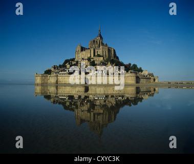 France. Normandy. Mont Saint-Michel. - Stock Photo