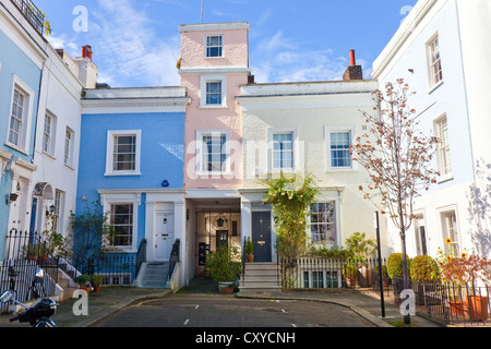 Houses in Notting Hill London W11 - Stock Photo
