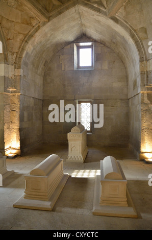 Mausoleum in the Palace of the Shirvanshahs from the 14th century, Baku, Azerbaijan, Caucasus, Middle East, Asia - Stock Photo