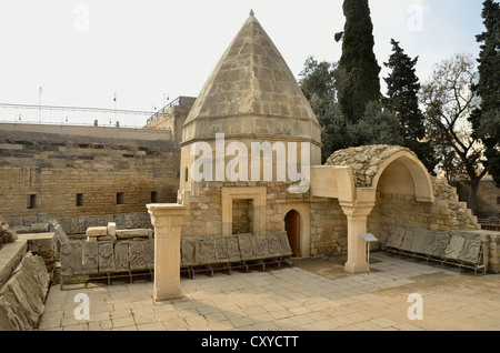 Palace of the Shirvanshahs from the 14th century, Baku, Azerbaijan, Caucasus, Middle East, Asia - Stock Photo