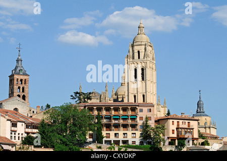 Cathedral, Segovia, Castile and León, Spain, Europe, PublicGround - Stock Photo