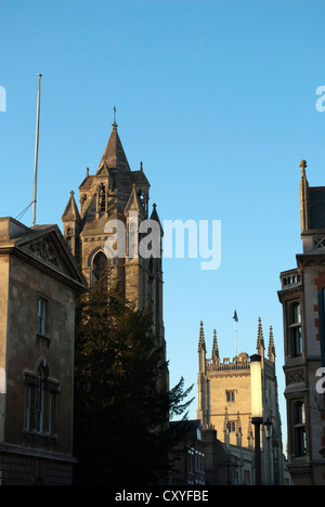 Buildings on Trumptington Street including the Emmanuel United Reformed Church and The Pitt Building - Stock Photo