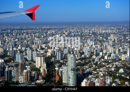Aerial view, Buenos Aires, Argentina, South America - Stock Photo