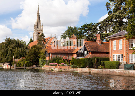 The River Thames at Marlow, Buckinghamshire, UK - Stock Photo