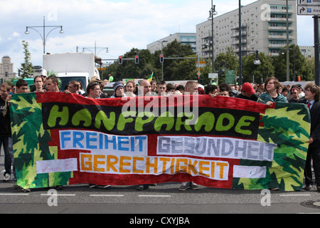 Hemp Parade for the legalisation of cannabis, Berlin - Stock Photo