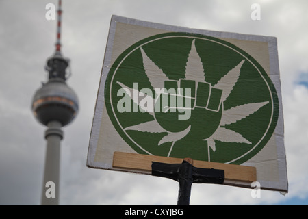 Hemp Parade for the legalisation of cannabis, Berlin - Stock Photo