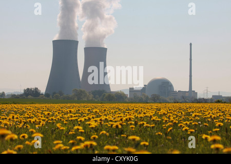 Nuclear power plant in Grohnde, Lower Saxony - Stock Photo