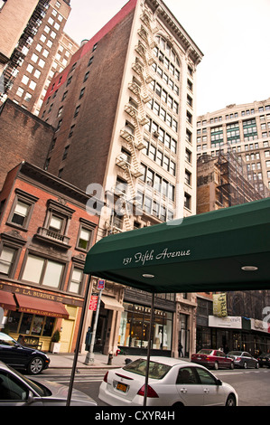 5th Avenue, 20th Street, Manhattan, New York City, New York, USA - Stock Photo