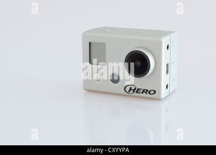 Full HD video camera, GoPro Hero - Stock Photo