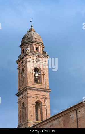 Steeple, historic district, Siena, Tuscany, Italy, Europe