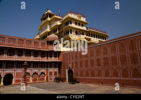 Chandra Mahal, City Palace, Jaipur, the Pink City, Rajasthan, India, Asia - Stock Photo