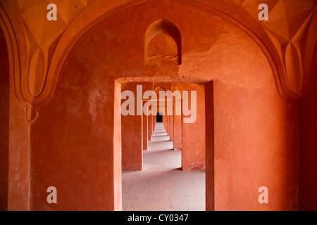 At the Taj Mahal, Agra, Rajasthan, India, Asia - Stock Photo