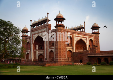 Gate to the Taj Mahal, Agra, Rajasthan, India, Asia - Stock Photo
