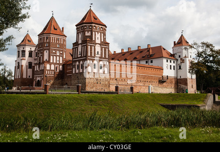 Mirsky Castle Complex (also known as Mir Castle) in Belarus. - Stock Photo