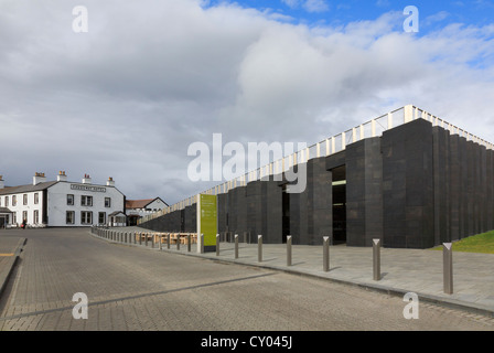 The new Giant's Causeway visitor centre and Causeway Hotel near Bushmills, Co Antrim, Northern Ireland, UK - Stock Photo
