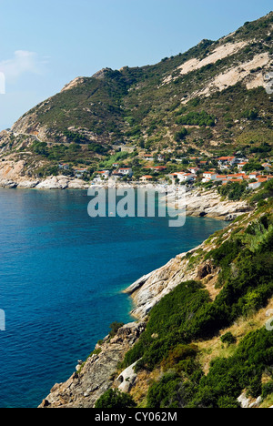 Chiessi, Isola d'Elba, Elba, Tuscany, Italy - Stock Photo