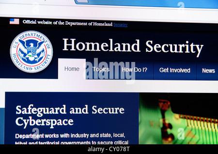 The USA Homeland security web site - Stock Photo
