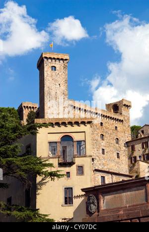 Bolsena Castle (Rocca Monaldeschi)- 13th century, Bolsena, Viterbo Province, Latium, Italy - Stock Photo