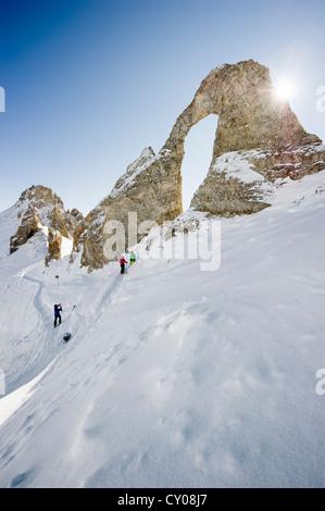 Aiguille Percee, Tignes, Val d'Isere, Savoie, Alps, France, Europe - Stock Photo