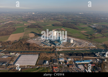 Aerial view, EON Datteln 4, coal-fired power plant, Datteln, Ruhr area, North Rhine-Westphalia
