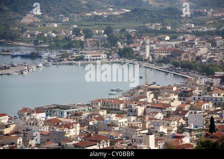 Cityscape and harbour, Zakynthos town, Island of Zakynthos or Zante, Greece, Europe - Stock Photo