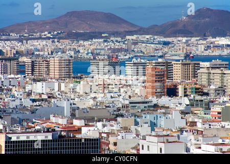 Panoramic view of Las Palmas, Gran Canaria, Canary Islands, Spain, Europe - Stock Photo