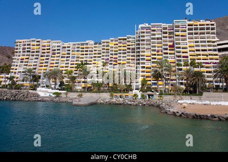 Hotel complex of Anfi del Mar, Arguineguin, Gran Canaria, Canary Islands, Spain, Europe, Atlantic Ocean - Stock Photo