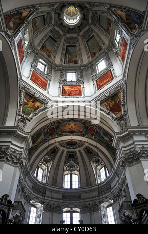Dome of Salzburg Cathedral, consecrated in 1628, Salzburg, Salzburg Province, Austria, Europe - Stock Photo