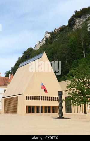 Liechtenstein Landtag at Vaduz - Stock Photo
