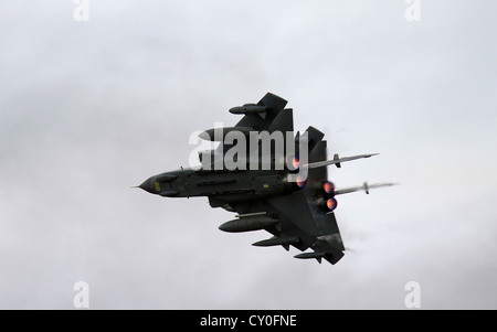The Tornado GR4 is a variable geometry, two-seat, day or night, all-weather attack aircraft, RAF Waddington display - Stock Photo