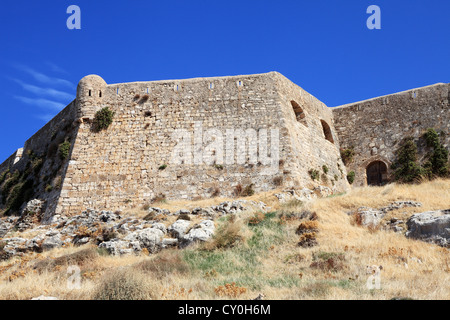 Walls of the Venetian fortress of Rethymnon, Crete, Greece - Stock Photo