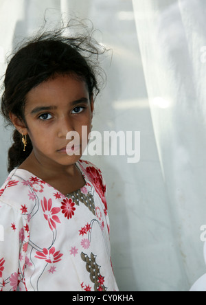 Young Girl In A Blue Mood, Muscat, Oman - Stock Photo