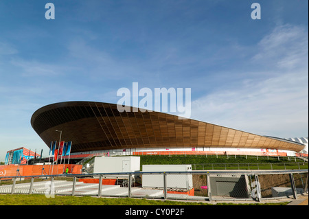 View of the Velodrome, at the Olympic Park, Stratford. - Stock Photo