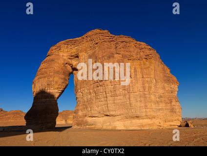 Elephant Rock In Madain Saleh Archaeologic Site, Saudi Arabia - Stock Photo
