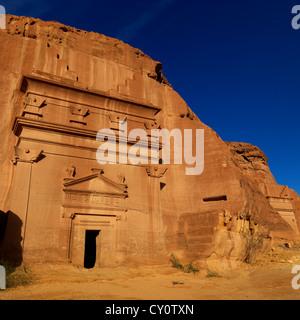 Madain Saleh Archaeologic Site, Saudi Arabia - Stock Photo