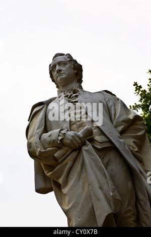 Statue of Wolfgang Goethe Tiergarten Berlin Germany - Stock Photo