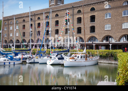 England. London. St. Katharine Docks and Ivory House. - Stock Photo