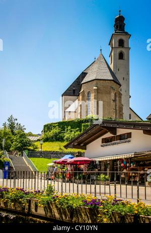 The Parish Church in Kitzbühel Austria - Stock Photo