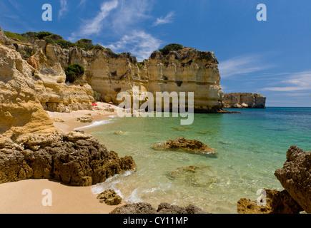 Portugal, the Algarve, small beach near Albufeira - Stock Photo