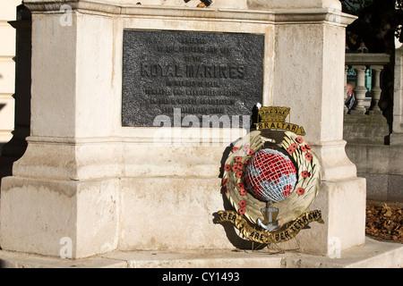 Graspan Royal Marines Memorial, The Mall, London, England, UK. - Stock Photo