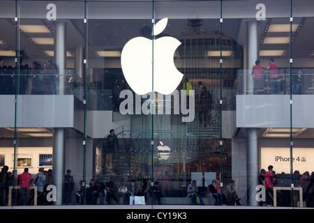 apple store in Hongkong - Stock Photo