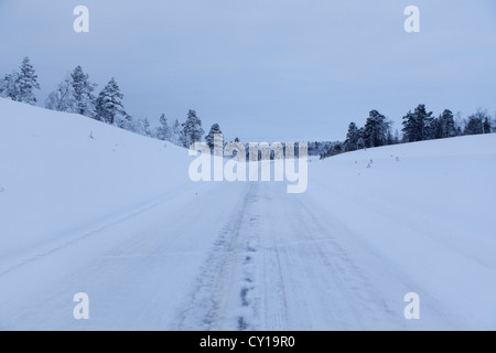 road in Northern Finland - Stock Photo