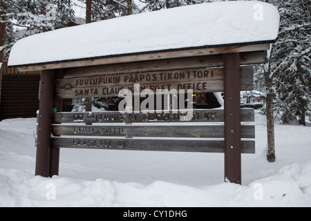 Santa claus office in North Finland - Stock Photo