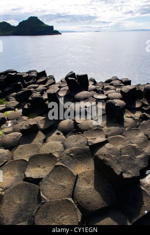 Giant's Causeway, Co. Antrim, Northern Ireland - Stock Photo