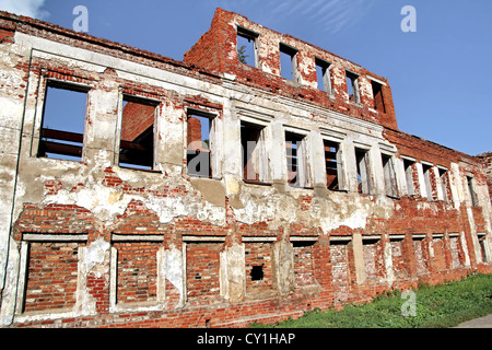 Old deserted brick building - Stock Photo