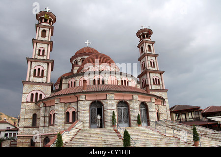 Resurrection Cathedral in Korce - Stock Photo