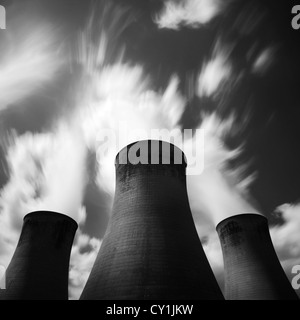 Eggborough Power Station cooling towers, East Yorkshire - Stock Photo