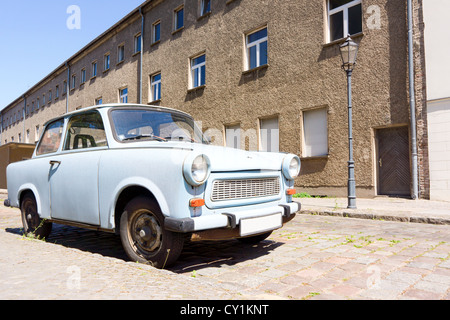 The Trabant was the most common vehicle in East Germany (GDR or DDR). - Stock Photo