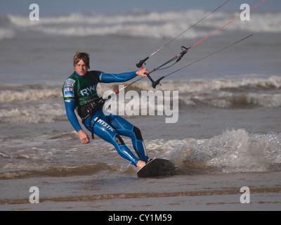BKSA, British Kitesurfing Association, Westward Ho! 2012, Devon, UK - Stock Photo
