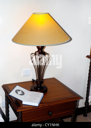 Balaclava Mauritius Hotel Maritim Gideon Bible and Lamp in Bedroom - Stock Photo
